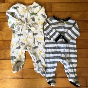 Carter's One Pieces - CLEARANCE Cotton Sleeper Footie Suit Neutral Color